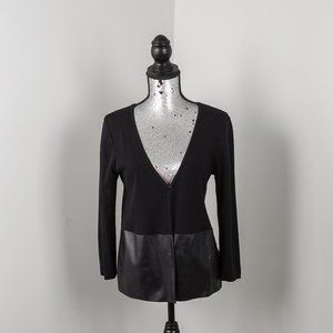 NWOT Cupio cardigan with faux leather inset -M